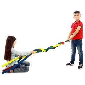 Игра «Заплети косу» объёмная, длина 2 м, цвета микс