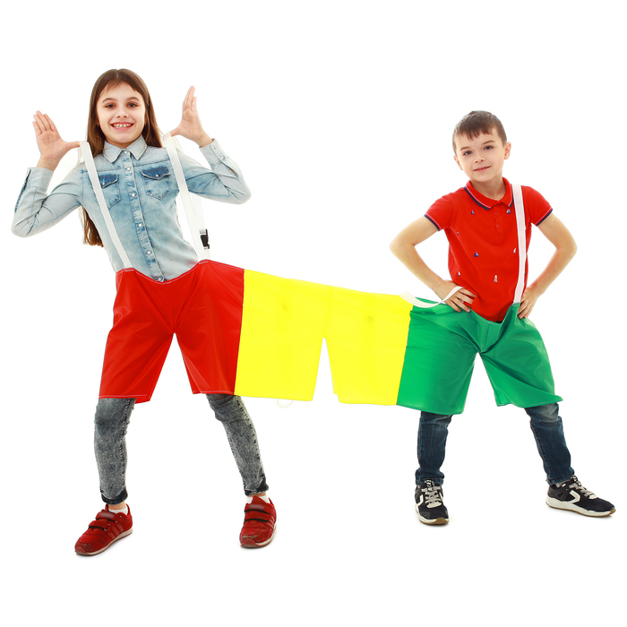Шорты эстафетные, три штанины, для троих, детские  МИКС
