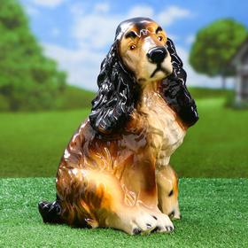 Садовая фигура 'Собака Спаниель', бело-чёрный цвет, 34 см, микс Ош