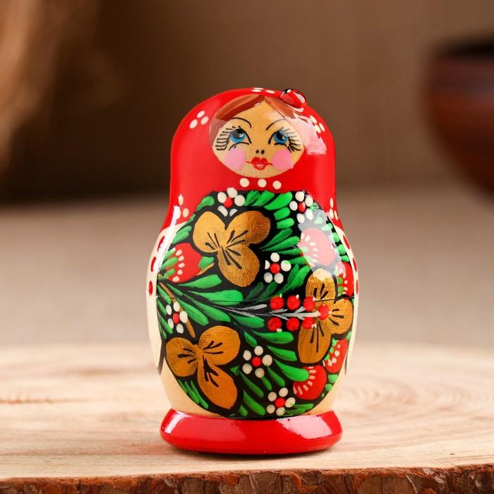 Матрёшка «Божья коровка», красное платье, 5 кукольная, 10 см - фото 538140063