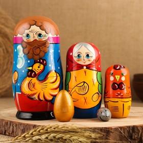 Матрёшка «Курочка Ряба», сюжетная, 5 кукольная, 13,5 см., микс