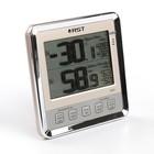 Термометр RST 02403, цифровой, гигрометр, с большим дисплеем, шампань