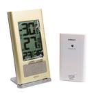 Термометр RST 02717, цифровой, радио-датчик, часы, бежевый