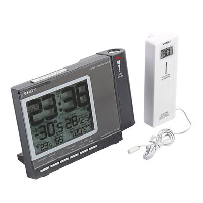 Часы RST 32765, проекционные, дом/улица, цвет темный графит