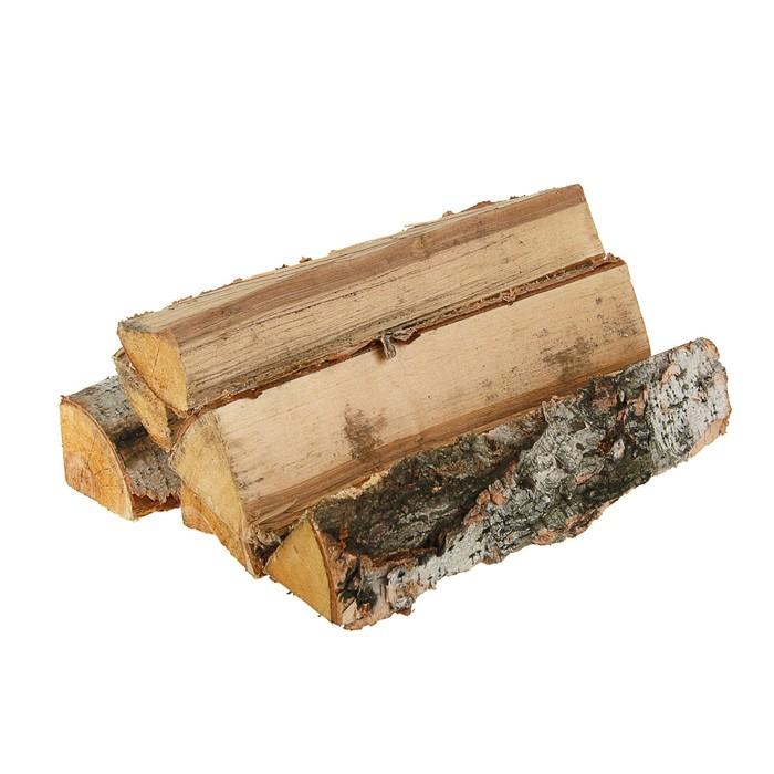 Дрова берёзовые, колотые, 40 см по 6 шт, в сетке