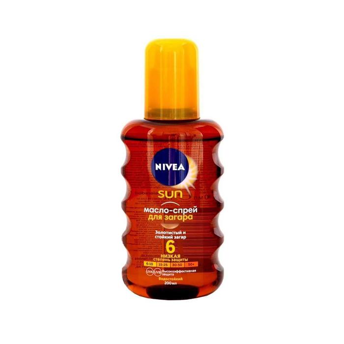 Масло-спрей Nivea Sun для загара увлажняющее SPF 6, 200 мл
