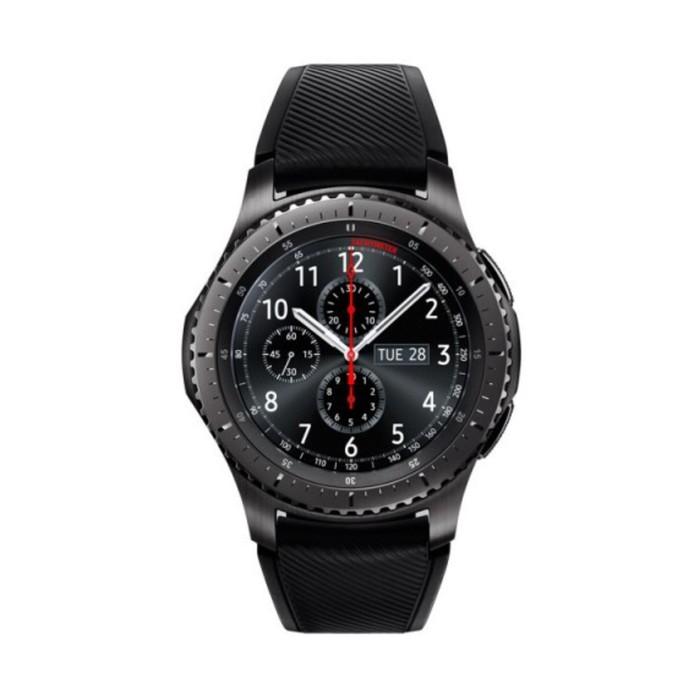 """Смарт-часы Samsung Galaxy Gear S3 Frontier SM-R760, цветной дисплей 1.3"""", тёмно-серые"""
