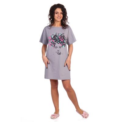 Платье женское Божена цвет серый, р-р 52