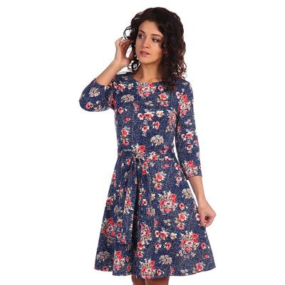 Платье женское Буржуа цвет коралловый, принт цветы, р-р 44