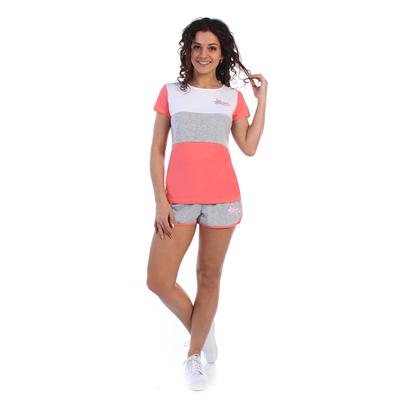 Комплект женский (футболка, шорты) Дженни цвет коралловый, р-р 44