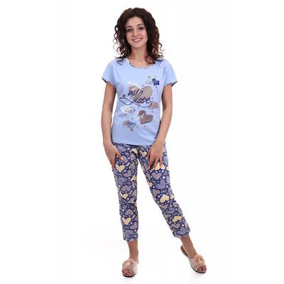Комплект женский (футболка, бриджи) Дива цвет индиго, р-р 52