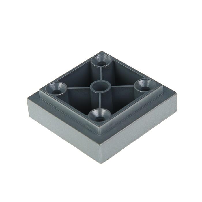 Опора квадратная, H=20 мм, цвет  матовый хром - фото 308815829