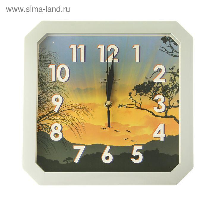"Часы настенные квадратные ""Пейзаж"""