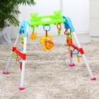 Игровой развивающий центр-турник с погремушками «Львёнок»