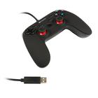 Геймпад проводной Canyon CND-GP5, для PS4 и PC, 22 кнопки, двойные триггеры, черный