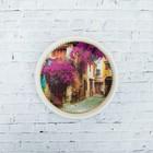 Тарелка декоративная «Прованс», с рисунком на холсте, настенная, D = 16 см