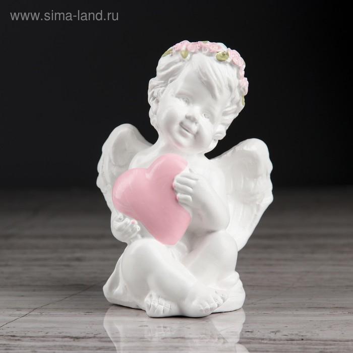 """Статуэтка """"Пупс с сердцем"""" с розовой отделкой"""
