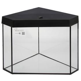 Аквариум дельта угловой с крышкой, 200 литров, чёрный
