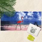 """Полотенце махровое велюр """"Фламинго"""" 70х140 см,320 г/м2,хлопок 100%"""