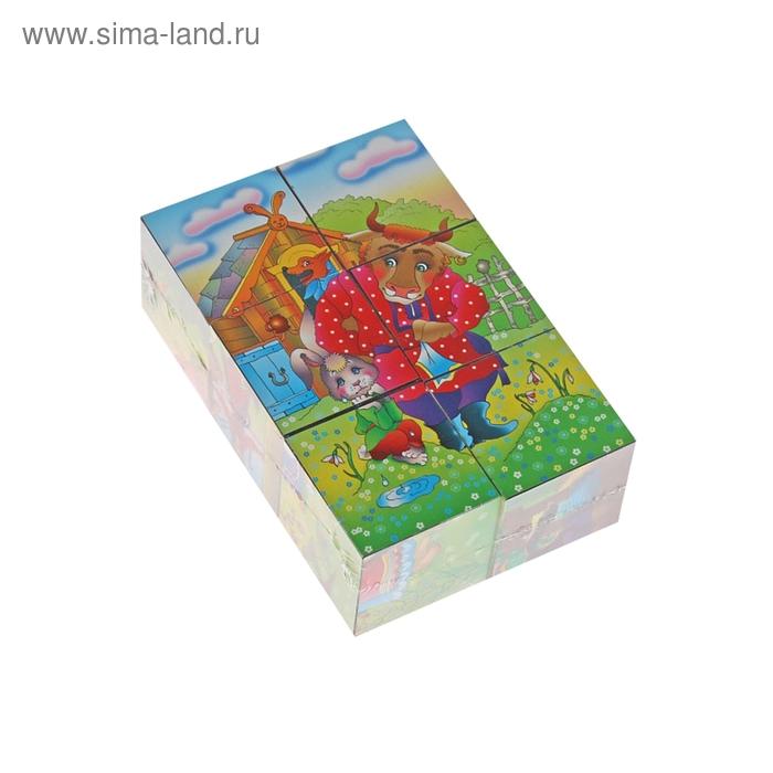 """Кубики """"Мир сказок"""", 6 штук"""
