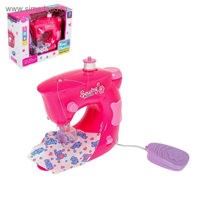 """Мини-швейная машина """"Карамель"""" с катушкой, цвет розовый"""