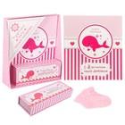 """Подарочный набор """"Розовый кит"""": книга малыша, коробочки для хранения и носочки МИКС"""