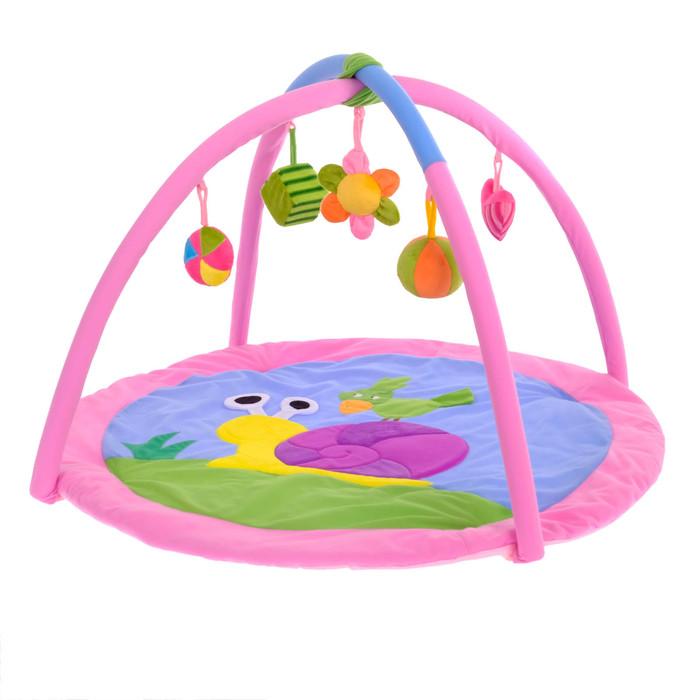 Развивающий коврик «Улитка», с дугами - фото 685534608