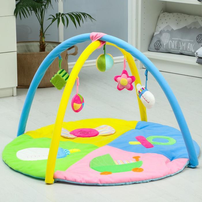 Развивающий коврик «Малышкины радости», с дугами - фото 76132175