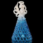 Колокольчик сувенирный «Хрустальный ангел», ручной работы, бело-синий