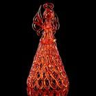 Колокольчик сувенирный «Хрустальный ангел», ручной работы, оранжевый