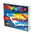 Мозаика круглая, 60 элементов по 15 мм, 6 цветов - фото 697024