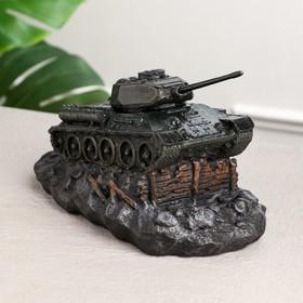 """Копилка """"Танк Т-34"""", зелёная, 12 см"""