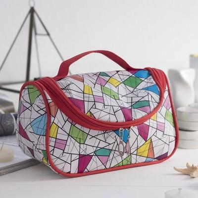 Косметичка-сумочка «Абстракция», отдел на молнии, цвет белый