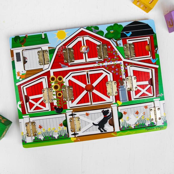 """Бизиборд (игрушечный сундук) """"Ферма"""", с магнитными деталями"""