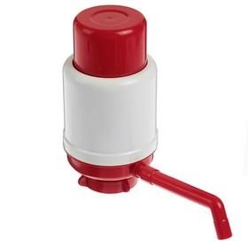 """Помпа для воды """"Дельфин"""" Эко, под бутыль от 12 до 19 л, красный"""
