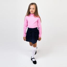 Школьная юбка для девочки, рост 122-128 см, цвет синий