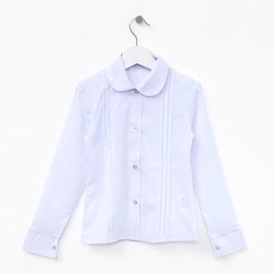 Блузка для девочки , рост 128-134 см, цвет белый