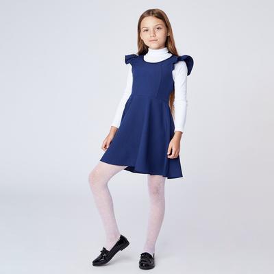Сарафан для девочки,  рост 134-140 см, цвет синий ШФ 0020