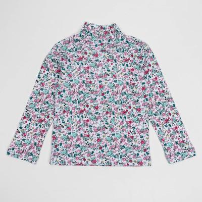 Водолазка для девочки, рост 104 (28) см, цвет белый/розовый Р-005
