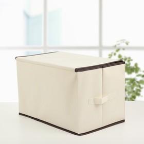 Короб для хранения с крышкой «Енот», 39×25×25 см - фото 2177821