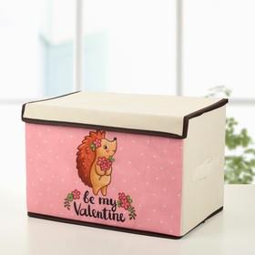 Короб для хранения с крышкой «Ёжик», 39×25×25 см