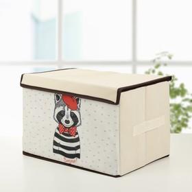 Короб для хранения с крышкой «Енот», 39×25×25 см