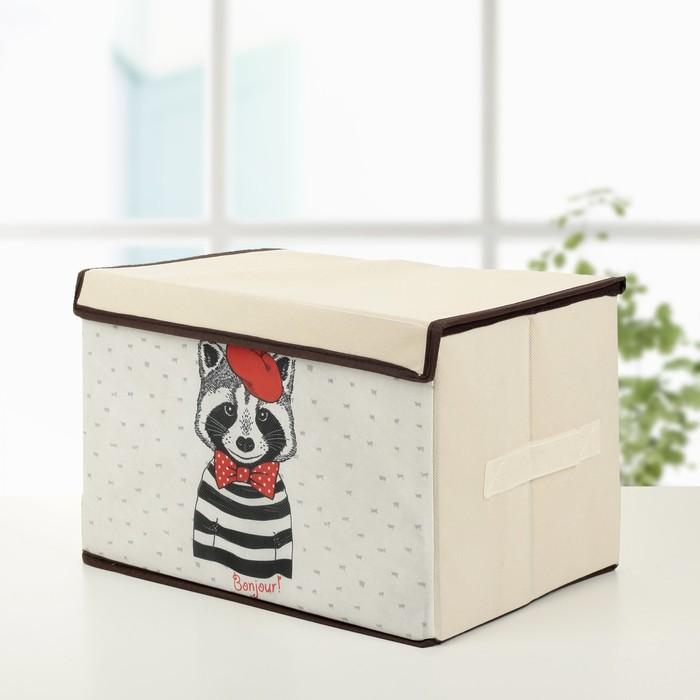 """Короб для хранения с крышкой 39×25×25 см """"Енот"""""""