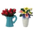 """Магнит полистоун """"Цветы в вазе"""" МИКС 7х5,3 см"""
