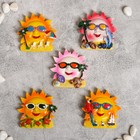 "Magnet Polyresin ""Sun holiday"" MIX 7x7 cm"