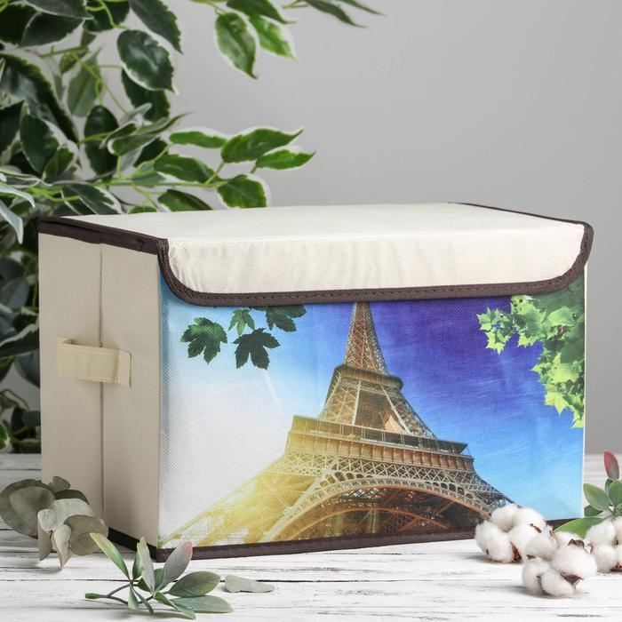 Короб для хранения с крышкой «Эйфелева башня», 38×25×24 см