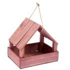 Кормушка для птиц, мокко, 25х13х20см