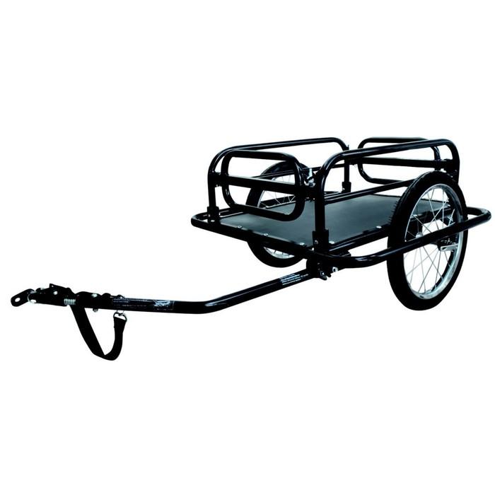 Велоприцеп для перевозки грузов до 40кг, складной, цвет черный