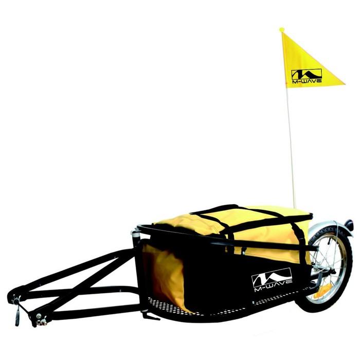 Велоприцеп M-WAVE для перевозки грузов до 35кг, складной