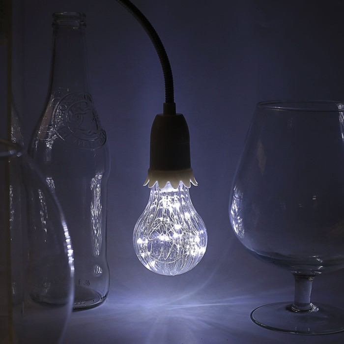 "Лампа светодиодная декоративная ""Груша"", A60, 3 Вт, E27, 105х60, белый"